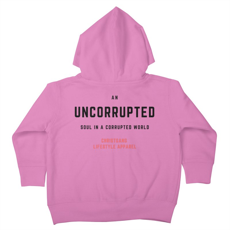 Uncorrupted Kids Toddler Zip-Up Hoody by ChristGang Apparel