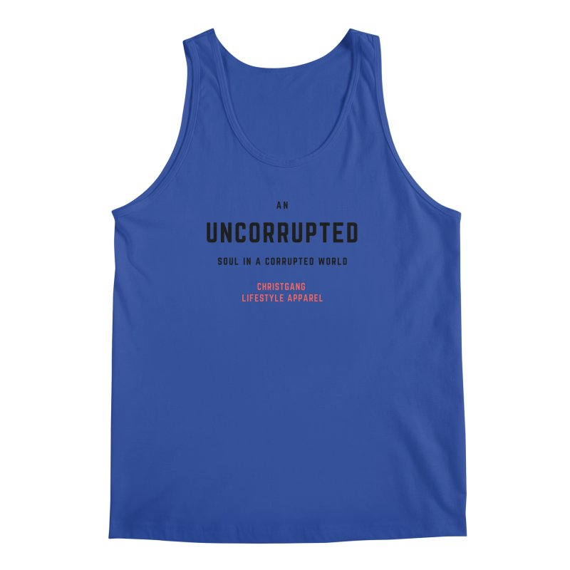 Uncorrupted Men's Regular Tank by ChristGang Apparel