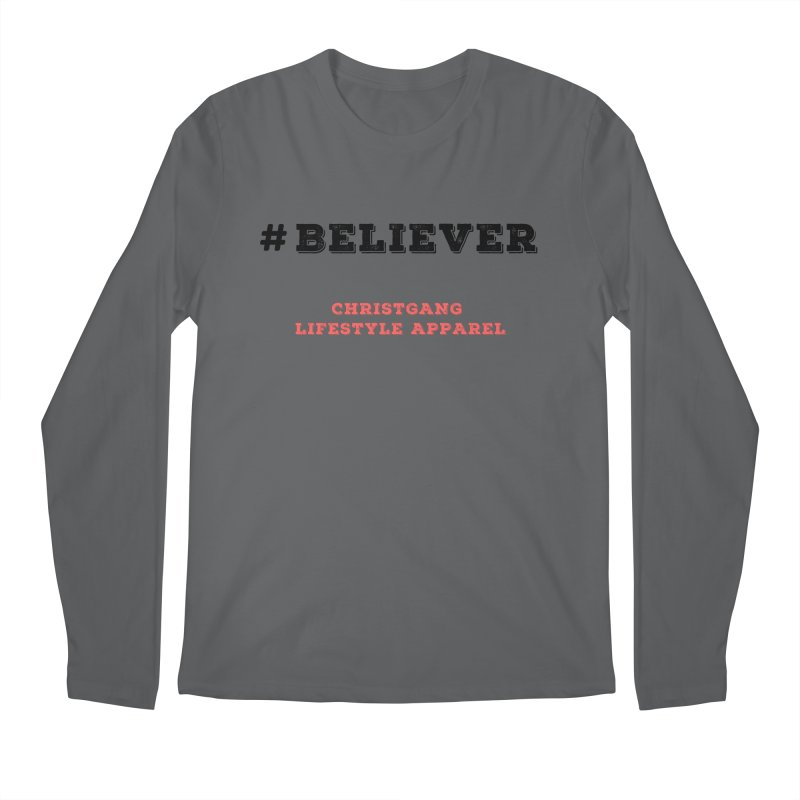 #Believer Men's Longsleeve T-Shirt by ChristGang Apparel