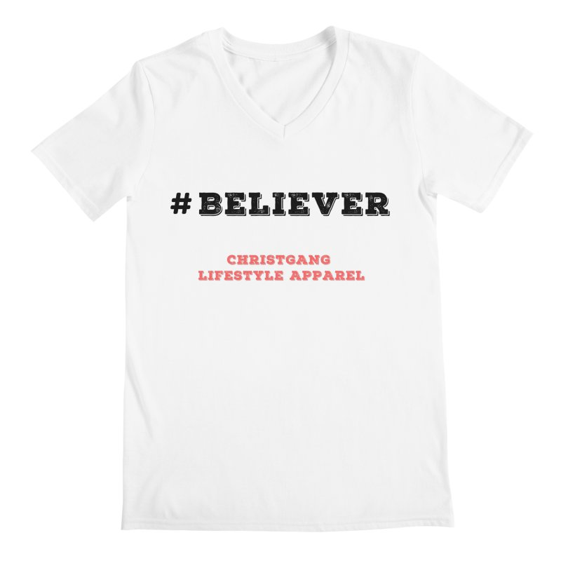 #Believer Men's V-Neck by ChristGang Apparel