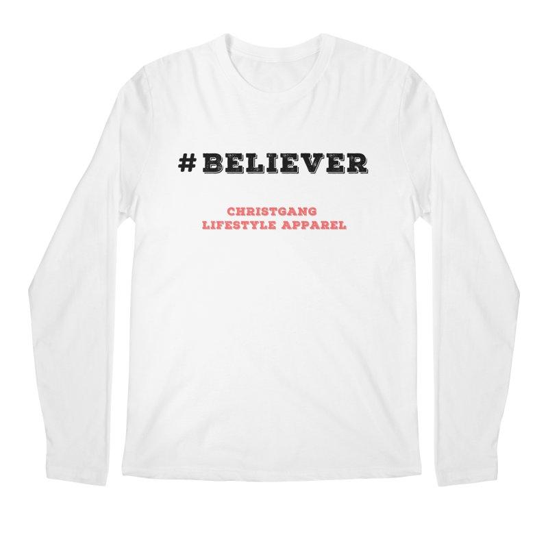 #Believer Men's Regular Longsleeve T-Shirt by ChristGang Apparel
