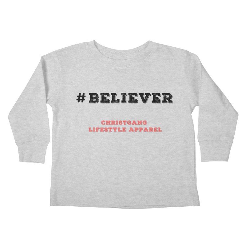 #Believer Kids Toddler Longsleeve T-Shirt by ChristGang Apparel