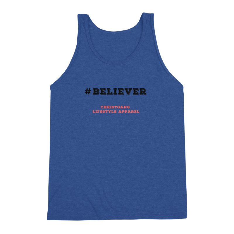 #Believer Men's Triblend Tank by ChristGang Apparel