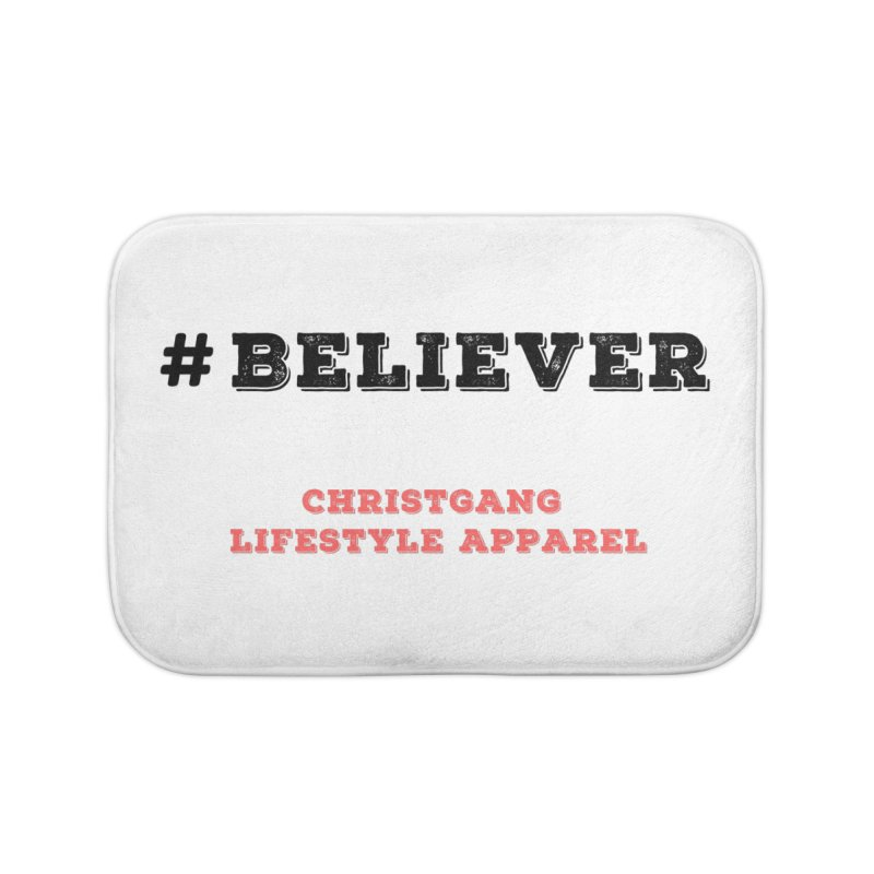 #Believer Home Bath Mat by ChristGang Apparel