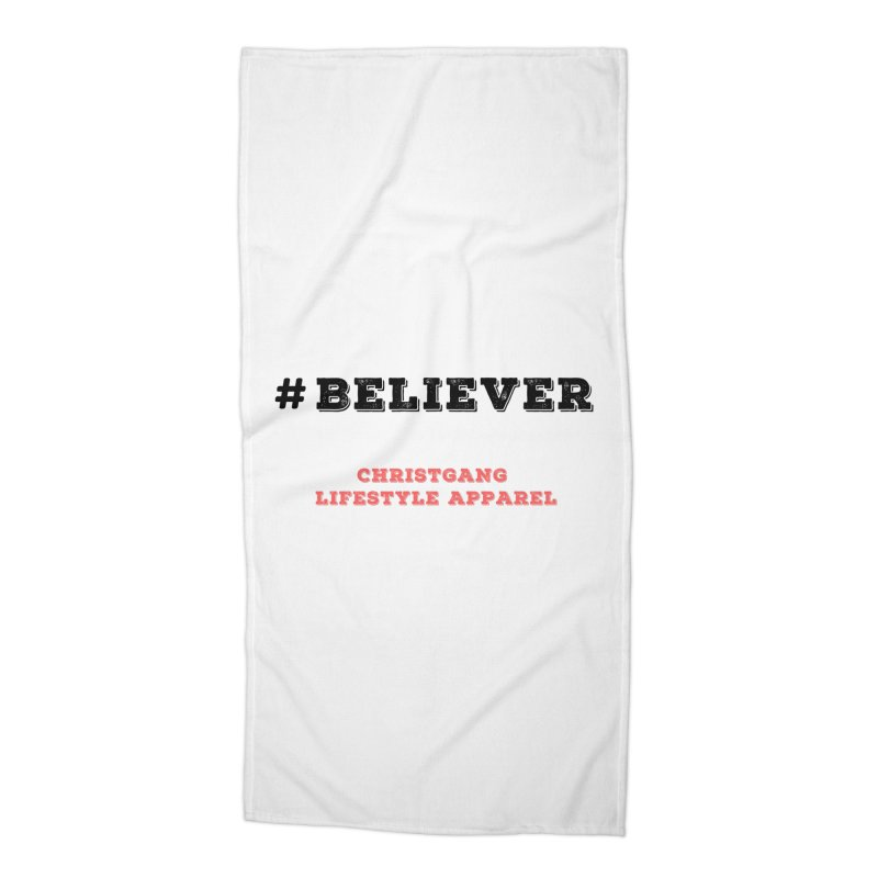 #Believer Accessories Beach Towel by ChristGang Apparel