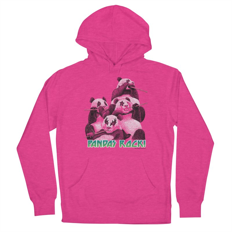 Pandas Rock Women's French Terry Pullover Hoody by Christi Kennedy