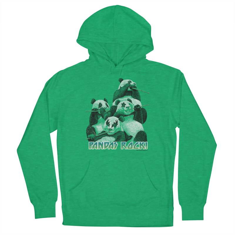 Pandas Rock Men's French Terry Pullover Hoody by Christi Kennedy