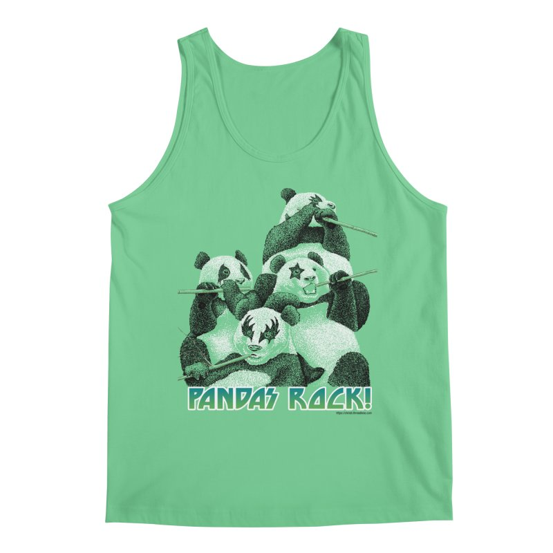 Pandas Rock Men's Regular Tank by Christi Kennedy