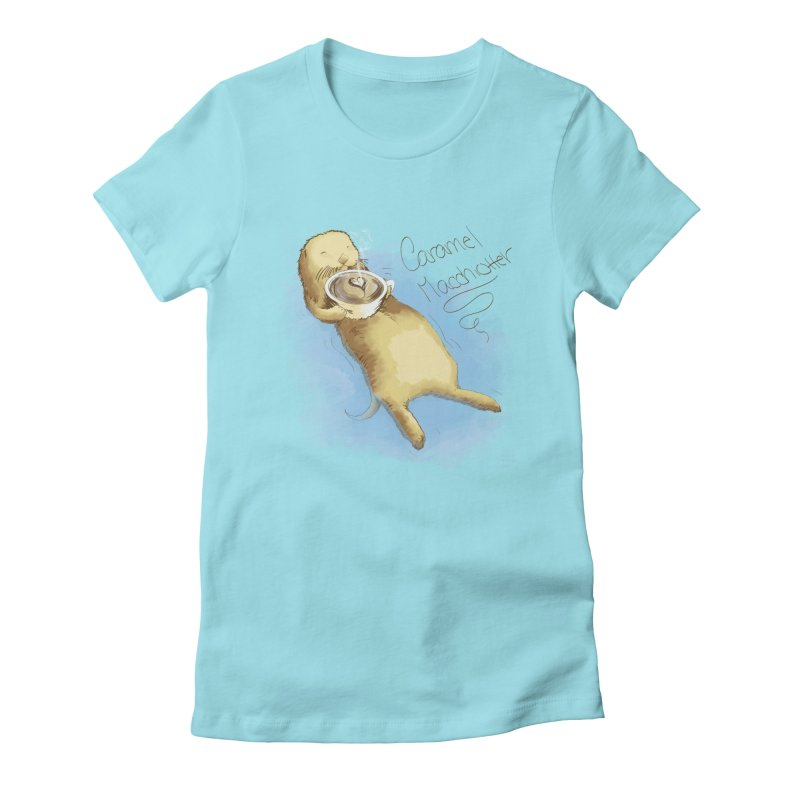 Caramel Macchiotter Women's Fitted T-Shirt by Christi Kennedy
