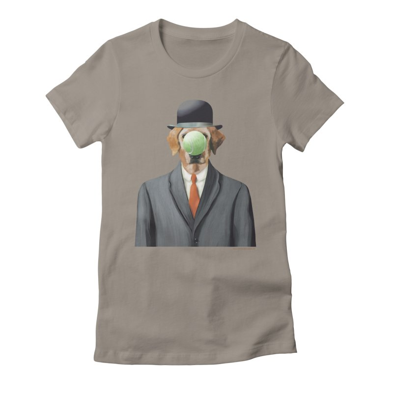 The Dog of Man Women's Fitted T-Shirt by Christi Kennedy