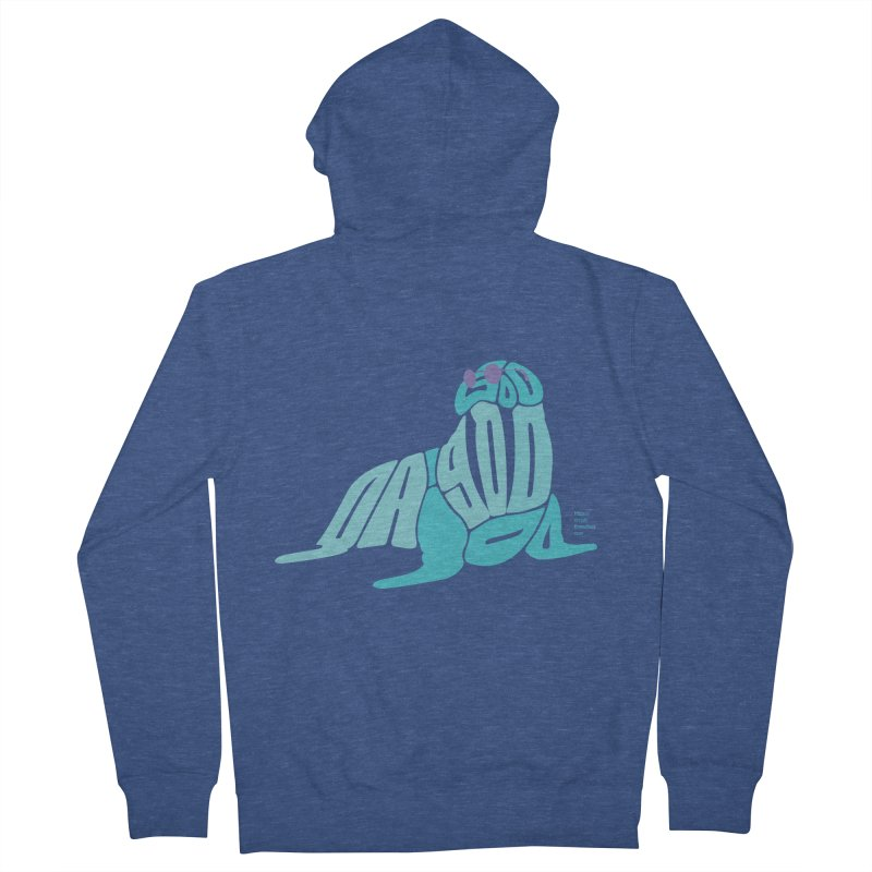 I am the Walrus Women's French Terry Zip-Up Hoody by Christi Kennedy
