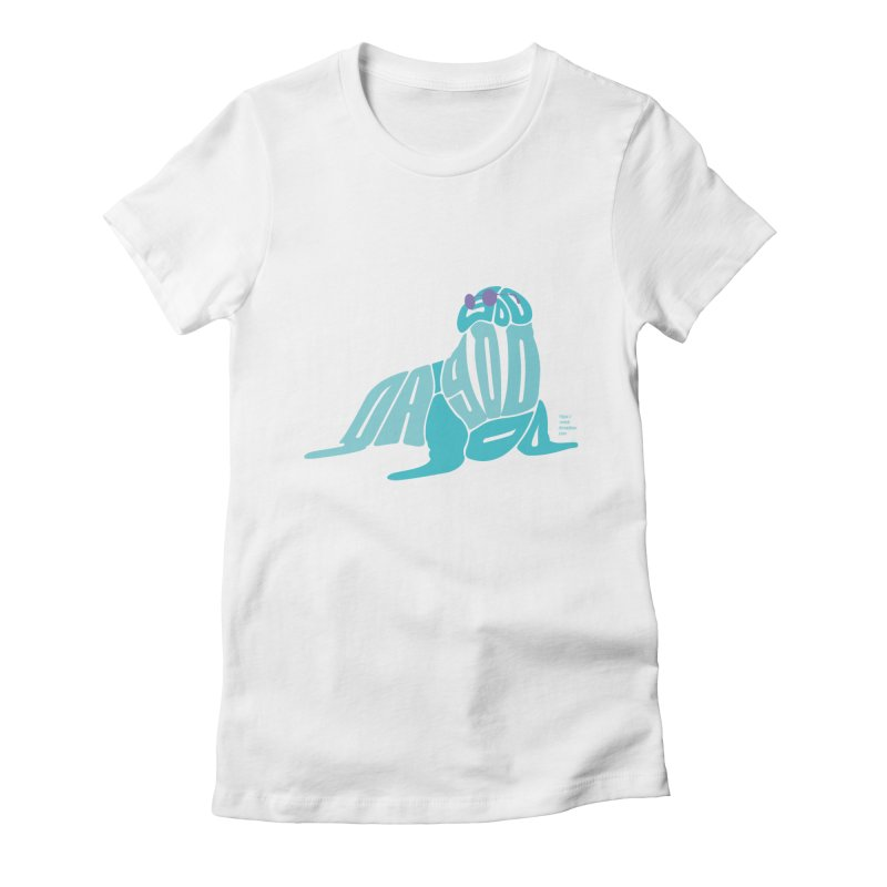 I am the Walrus Women's Fitted T-Shirt by Christi Kennedy
