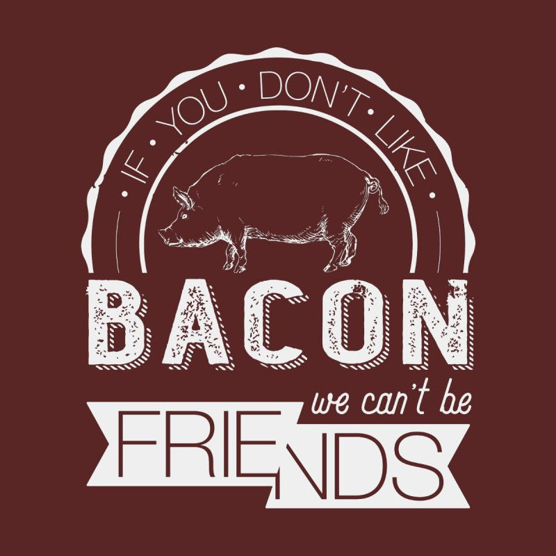 Bacon Friends Men's Zip-Up Hoody by Christi Kennedy