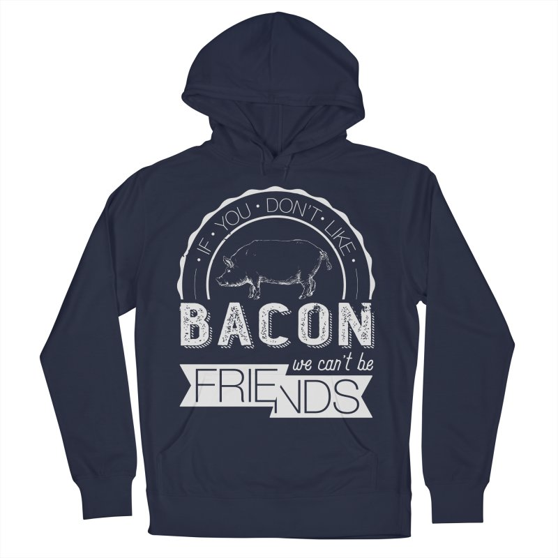 Bacon Friends Men's French Terry Pullover Hoody by Christi Kennedy