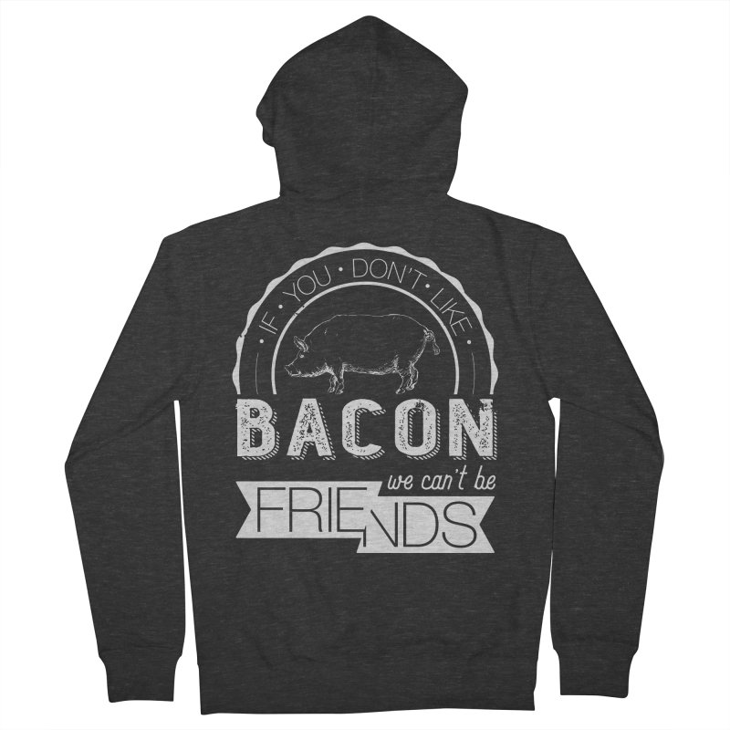 Bacon Friends Women's Zip-Up Hoody by Christi Kennedy