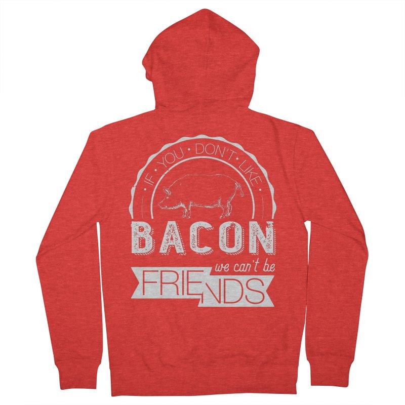 Bacon Friends Women's Zip-Up Hoody by Christi Kennedy