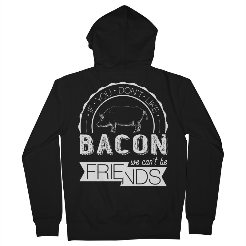 Bacon Friends Women's French Terry Zip-Up Hoody by Christi Kennedy