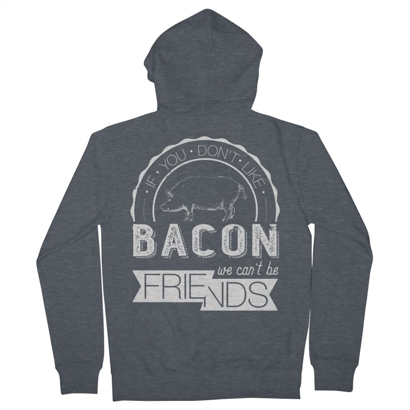 Bacon Friends Men's French Terry Zip-Up Hoody by Christi Kennedy