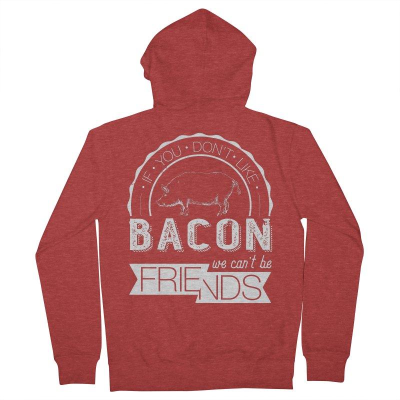 Bacon Friends Men's Zip-Up Hoody by Christi Kennedy