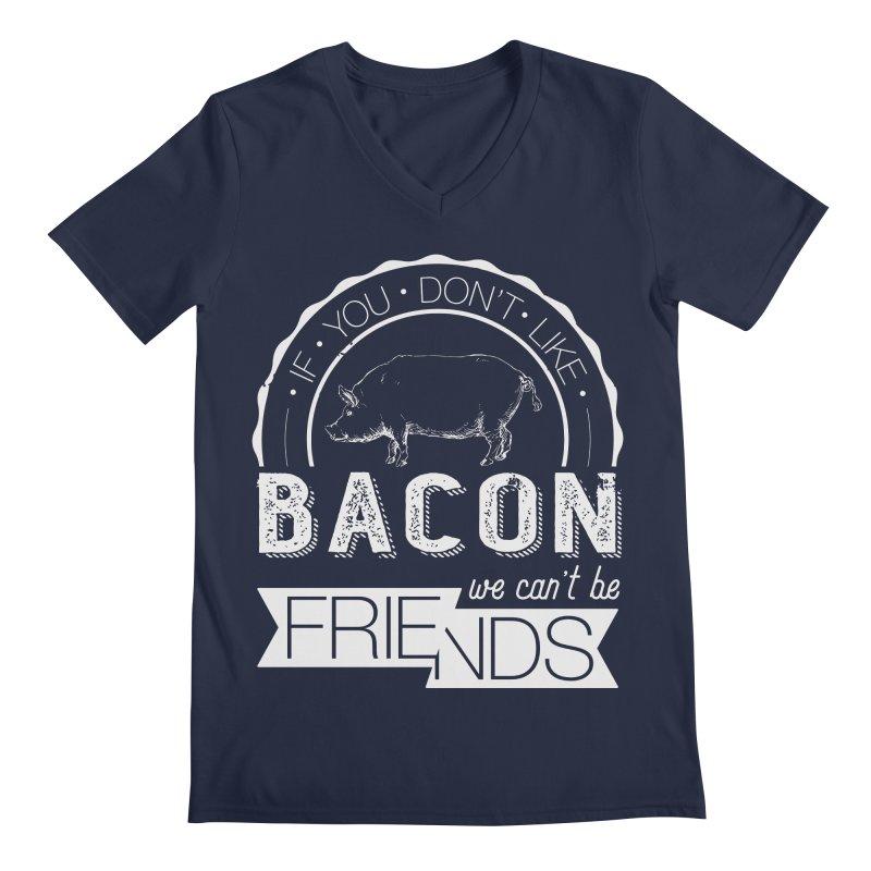 Bacon Friends Men's V-Neck by Christi Kennedy