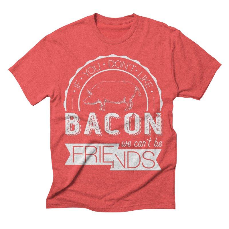 Bacon Friends Men's Triblend T-shirt by Christi Kennedy