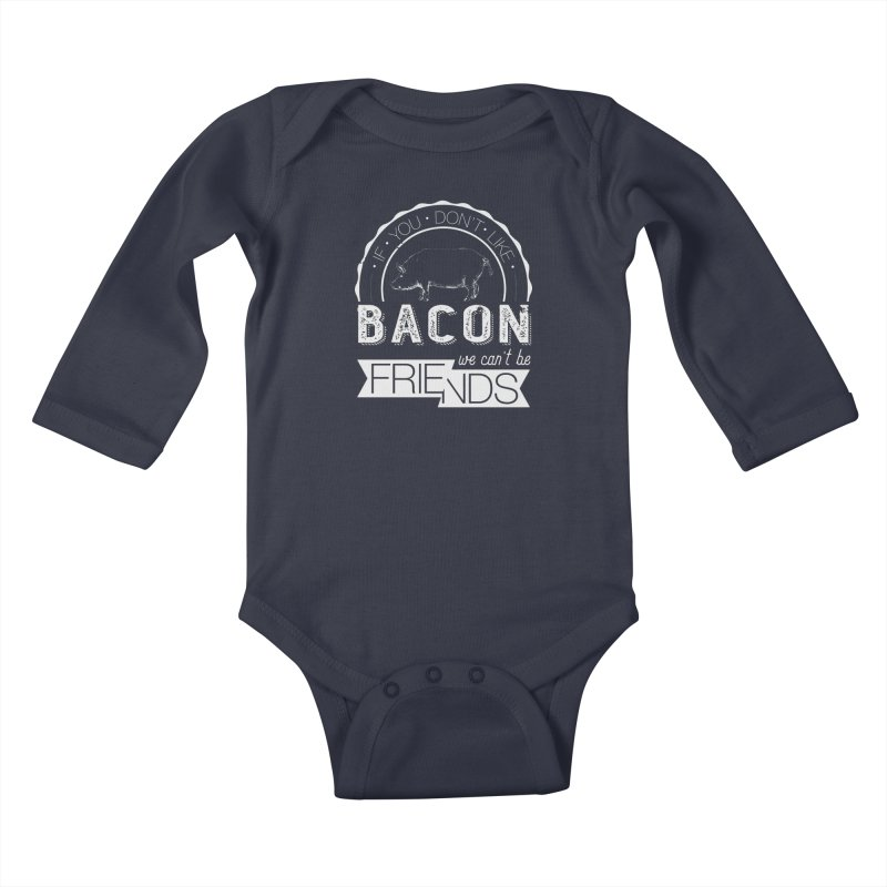 Bacon Friends Kids Baby Longsleeve Bodysuit by Christi Kennedy