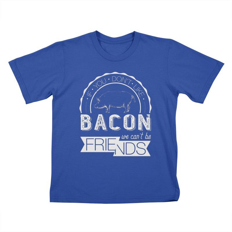 Bacon Friends Kids T-Shirt by Christi Kennedy
