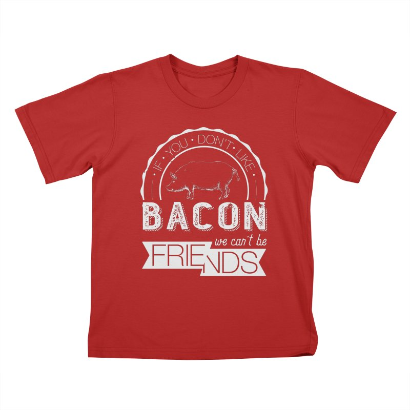 Bacon Friends Kids T-shirt by Christi Kennedy