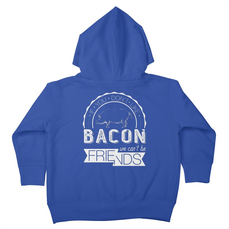 Bacon Friends Kids Toddler Zip-Up Hoody by Christi Kennedy