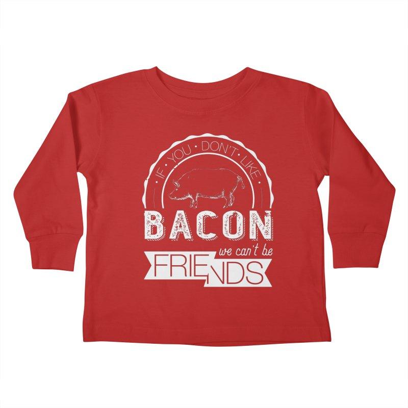 Bacon Friends Kids Toddler Longsleeve T-Shirt by Christi Kennedy