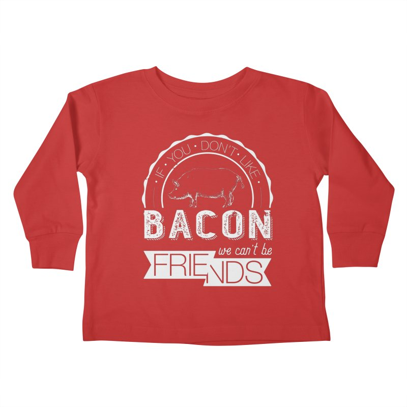 Bacon Friends Kids Toddler Longsleeve T-Shirt by Christi Kennedy