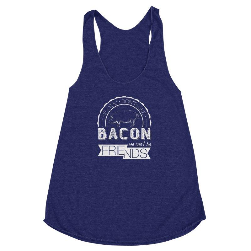 Bacon Friends Women's Racerback Triblend Tank by Christi Kennedy