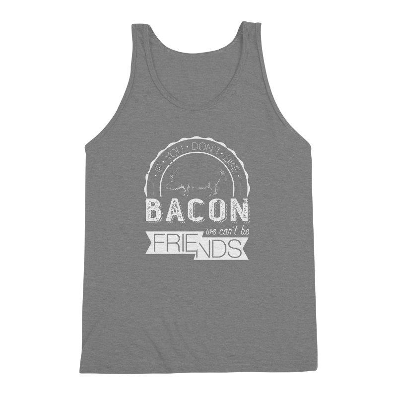 Bacon Friends Men's Triblend Tank by Christi Kennedy