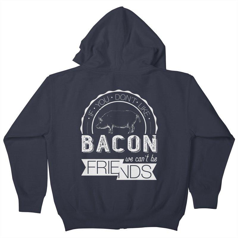 Bacon Friends Kids Zip-Up Hoody by Christi Kennedy