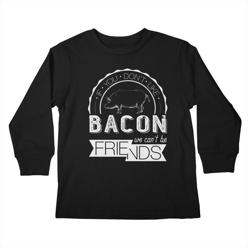 Bacon Friends Kids Longsleeve T-Shirt by Christi Kennedy