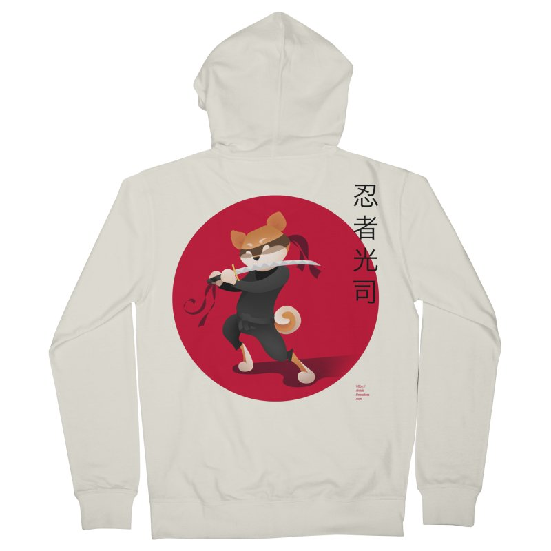 A Ninja Named Koji Men's Zip-Up Hoody by Christi Kennedy