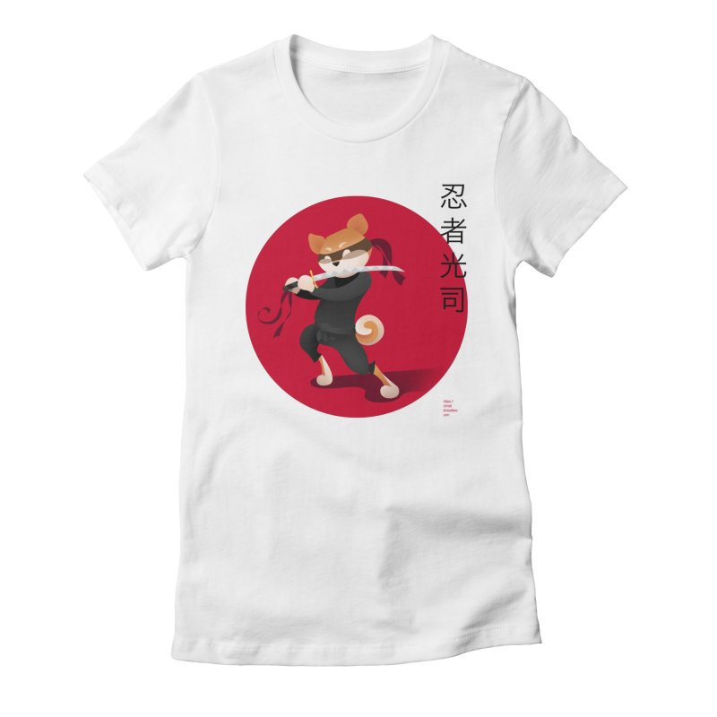 A Ninja Named Koji Women's Fitted T-Shirt by Christi Kennedy