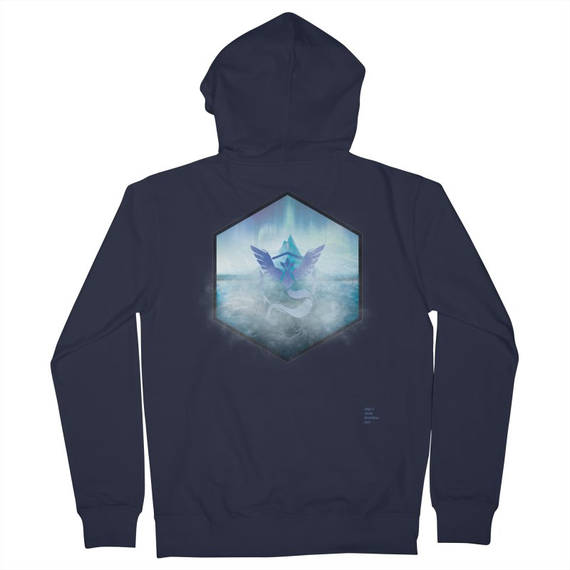 Team Mystic Men's Zip-Up Hoody by Christi Kennedy