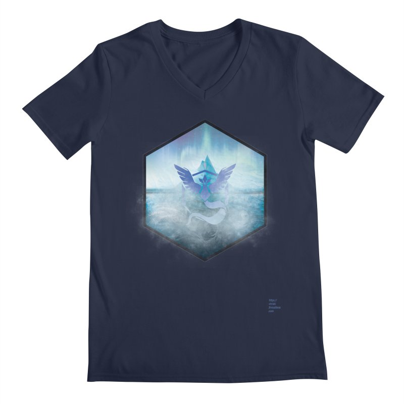 Team Mystic Men's Regular V-Neck by Christi Kennedy