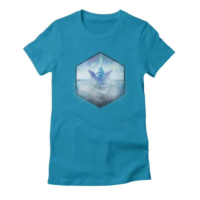 Team Mystic Women's Fitted T-Shirt by Christi Kennedy