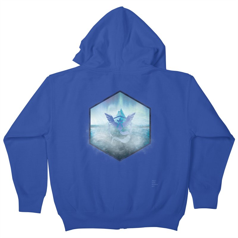 Team Mystic Kids Zip-Up Hoody by Christi Kennedy