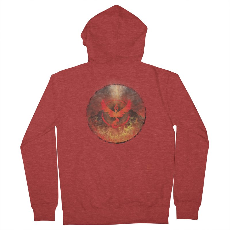 Team Valor Men's French Terry Zip-Up Hoody by Christi Kennedy