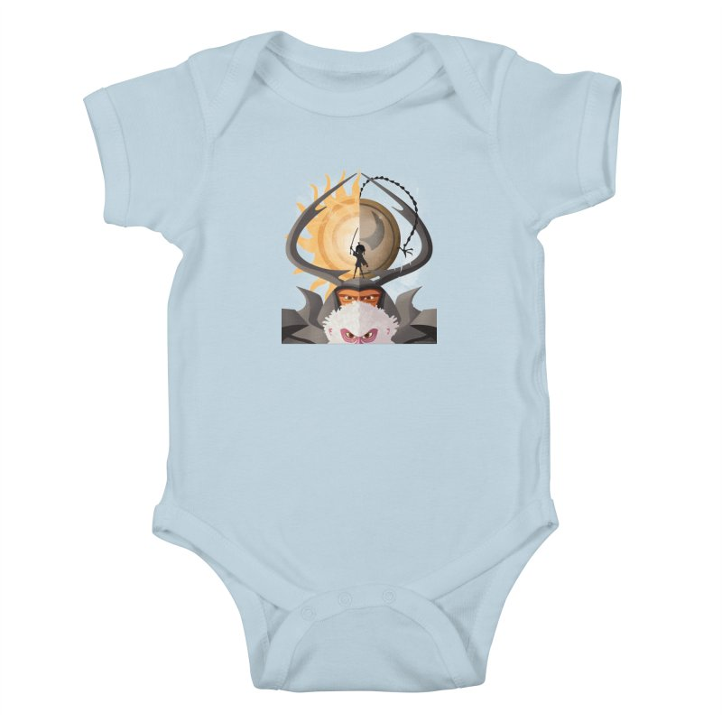 Kubo and The Quest Kids Baby Bodysuit by Christi Kennedy