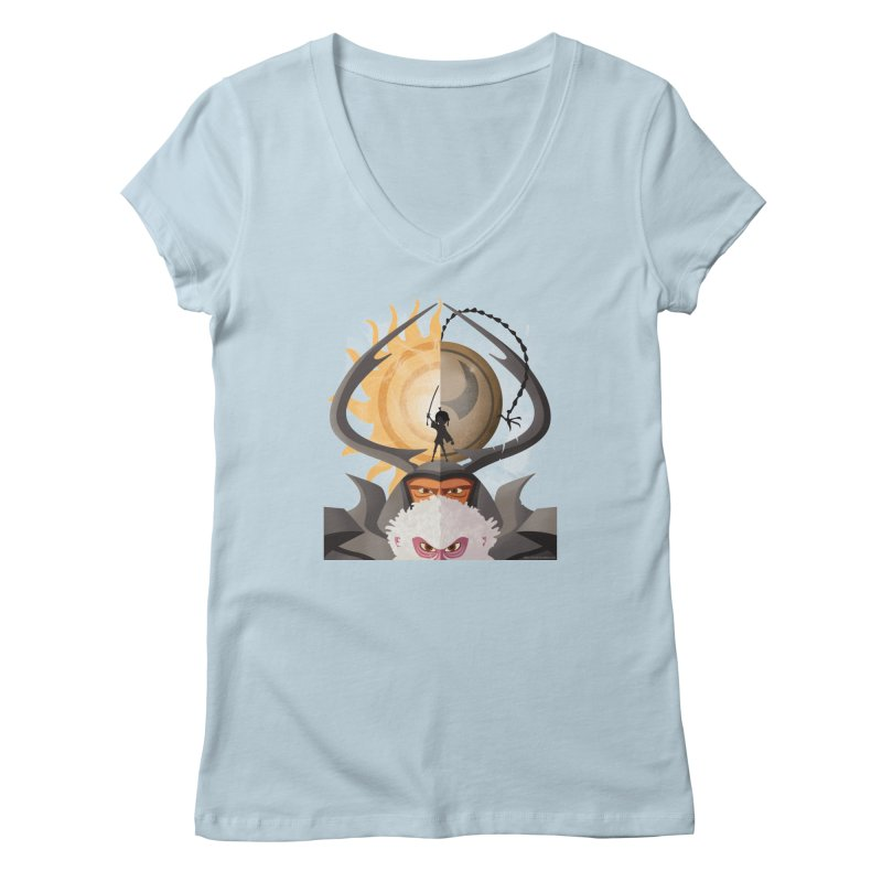 Kubo and The Quest Women's V-Neck by Christi Kennedy