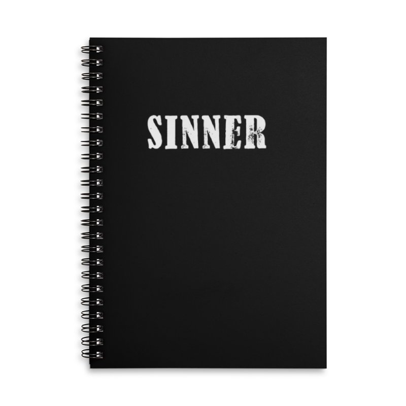 Sinner's Notebook Accessories Notebook by ChristianDeArmond's Artist Shop