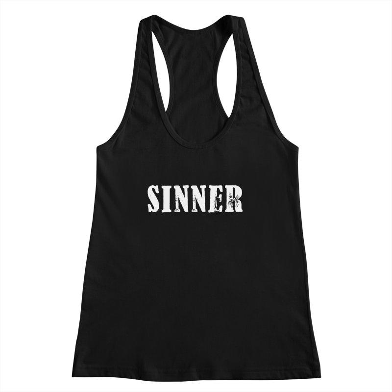 You're a Sinner too... Women's Racerback Tank by ChristianDeArmond's Artist Shop