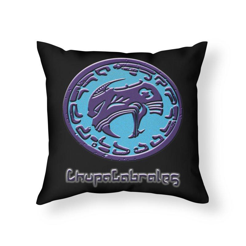 ChupaCabrales Logo (Aztech) Home Throw Pillow by ChupaCabrales's Shop