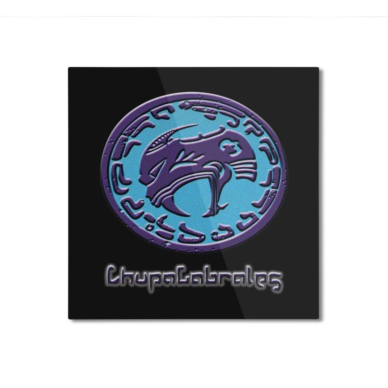 ChupaCabrales Logo (Aztech) Home Mounted Aluminum Print by ChupaCabrales's Shop