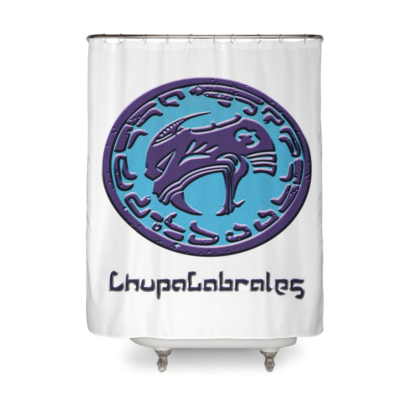 ChupaCabrales Logo (Aztech) Home Shower Curtain by ChupaCabrales's Shop