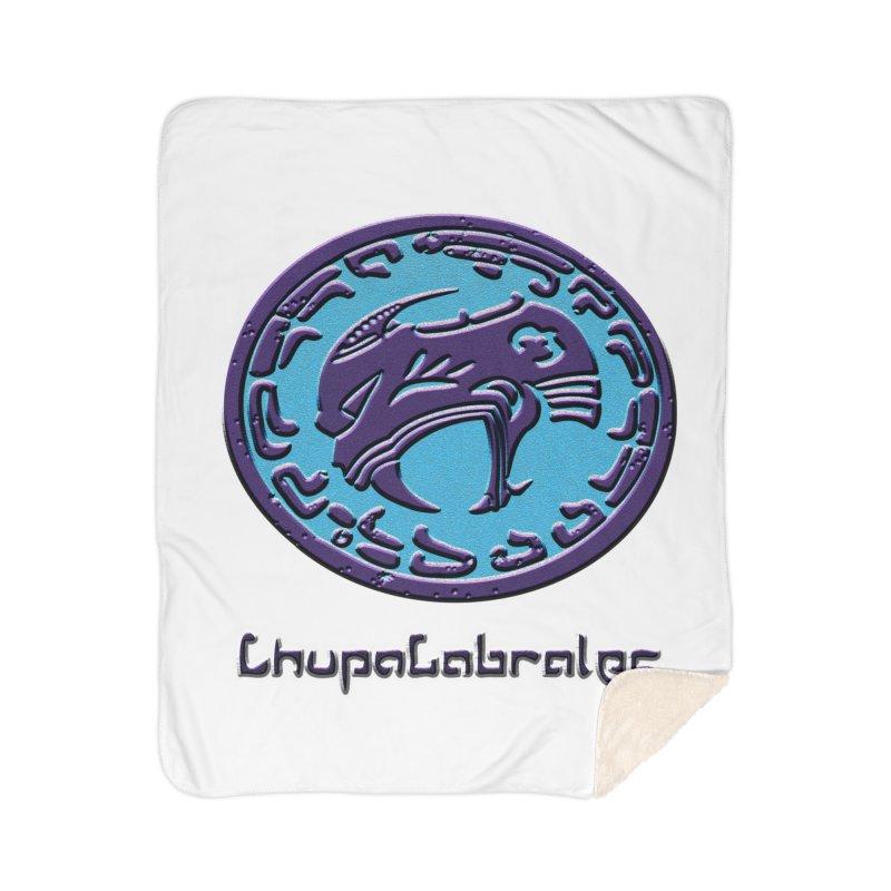 ChupaCabrales Logo (Aztech) Home Sherpa Blanket Blanket by ChupaCabrales's Shop